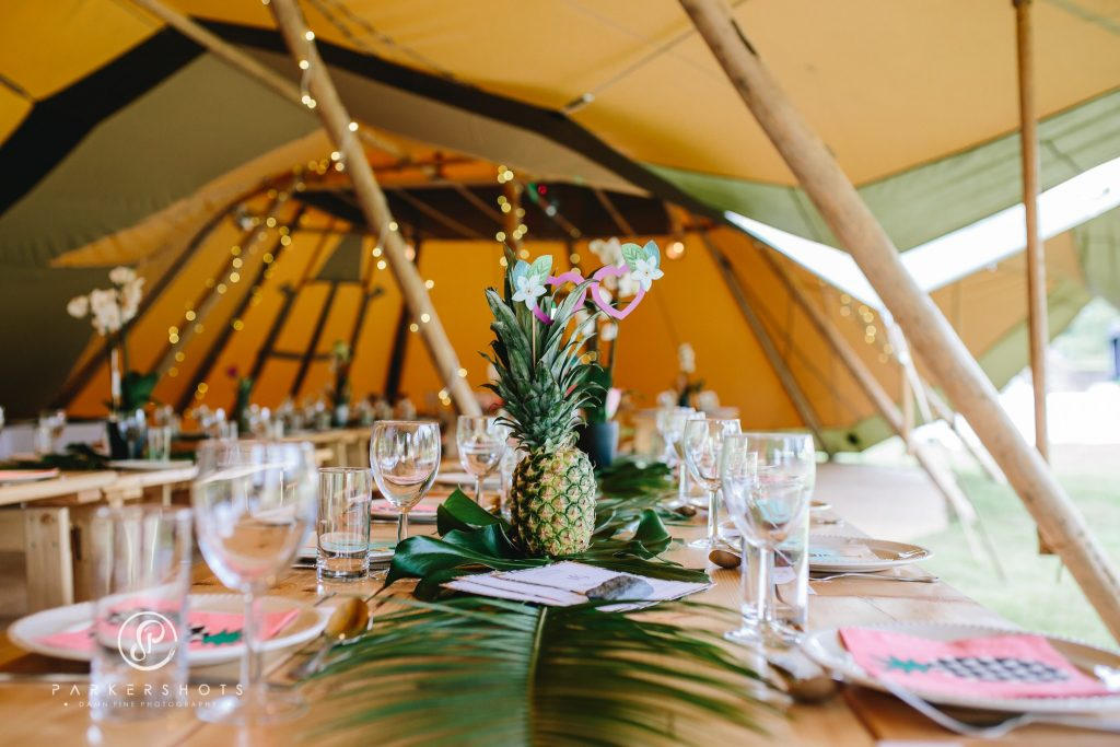 Tropical tipi interior