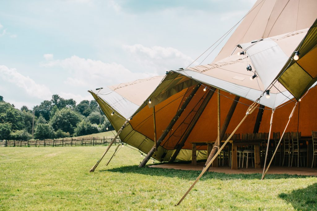 Tipi Tent with open front