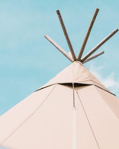 Top of Tipi tent