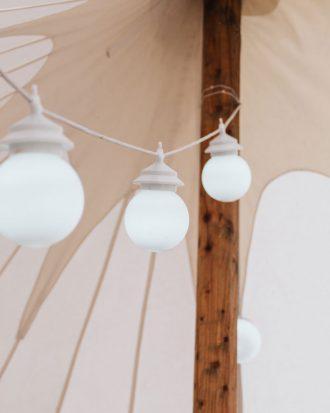 Globe festoon lighting