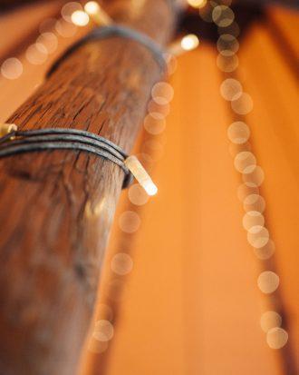 Fairy lights in tipi
