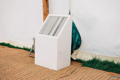 Powerful marquee heater