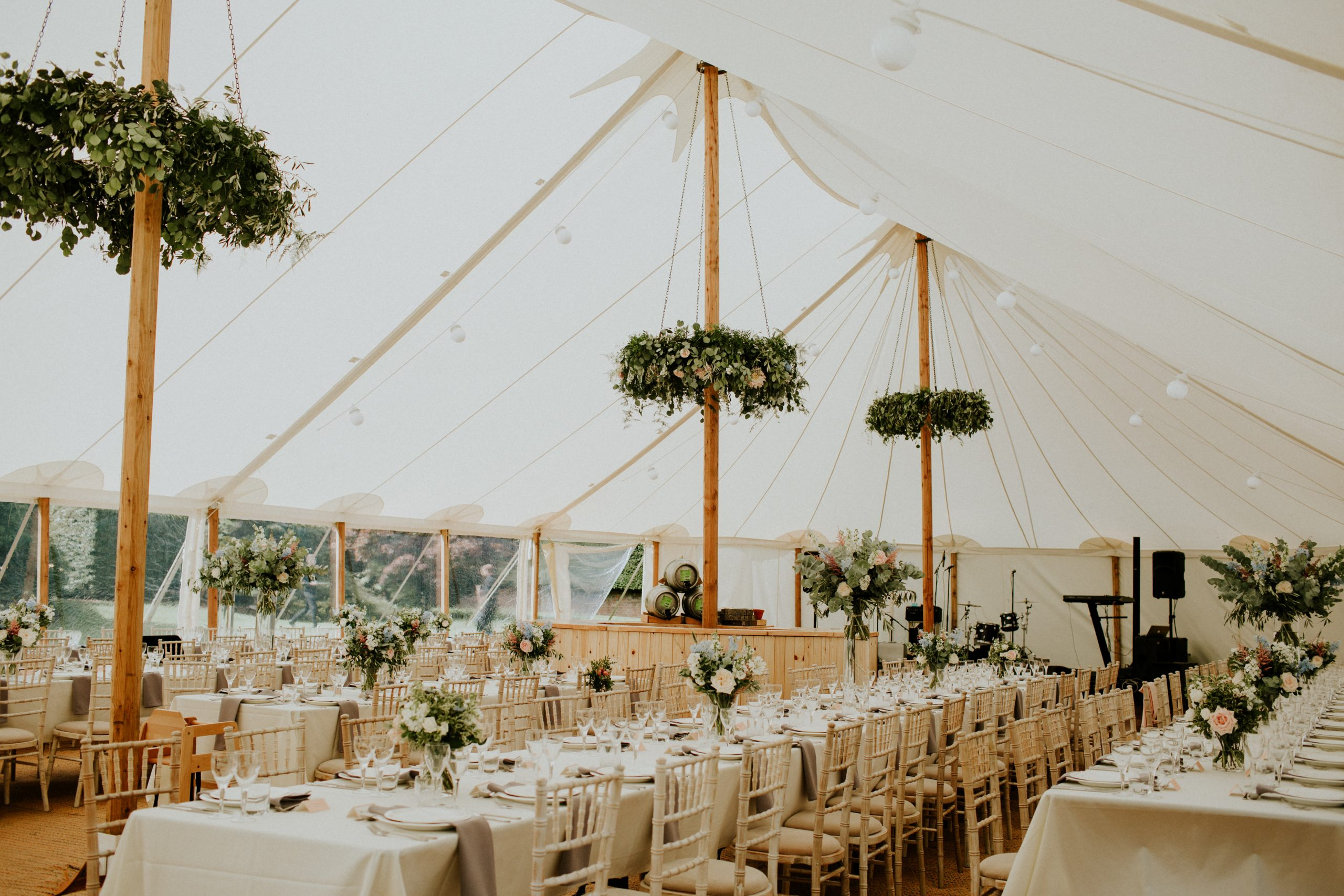 sailcloth wedding interior
